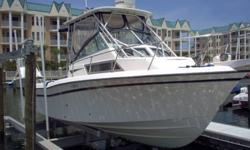 This is a super clean lift kept Grady White 272 with everything! Never bottom painted. 408 hours on Yamaha 225 2-Strokes OX 66's. Raymarine C-80 with Radar, Fishfinder, Plotter. Raymarine Autopilot, Icom VHF, Clarion Stereo, Richie Compass, Windlass,