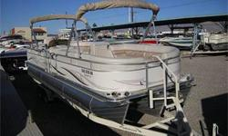 Great Buy! Manitou?s Famous SHP Sport Handling Triple Tube Hull - Handles Like A V-Hull, 300 HP Mercruiser 350 Mag MPI, Through Hull Captain?s Choice Exhaust, Bravo Three Dual Prop Drive For More Responsive Acceleration, SS Props, Drive Shower, Double