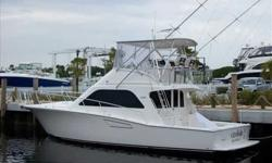 2002 Cabo Yachts 43 FLYBRIDGE A spirited Flybridge Sportfisher wrapped around a well appointed and roomy interior. One Owner with just 790 hours on 800 MAN power. Lowest price on the market and has just received many updates and improvements. READY TO