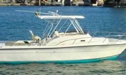 1997 Pursuit 2800 Inboard Diesels! Seeking Offers! This well maintained Pursuit 2800 is well equipped with twin Yanmar Diesel motors with 1050 hours on them as well as autopilot,Garmin 4212 Chartplotter/GPS, trim tabs, shore power, battery charger, full