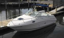2008 Sea Ray 240 SUNDANCER **BROKERAGE LISTING** PRIVATE OWNER MOTIVATED TO SELL. TRADES NOT ACCEPTED. **ONSITE FINANCING** here is a very clean low hour 240 SeaRay Sundancer. This boat is packed with all the usual 240 goodies. This boat is powered by