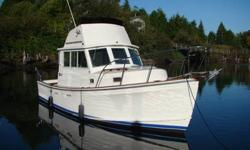 A solid reliable seaworthy vessel. 28ft with flybridge and full controls, large cockpit for fishing, saloon converts to double berth, full galley with hot and cold pressure water, electric fresh water head and shower and a queen V berth as well, a lot for