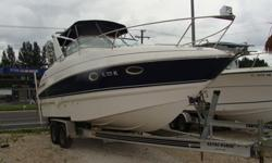 5.7 MPI Volvo 300 HP with duo prop 60 hours, Generator with 28 hours, AC, Full Galley, Gps fishfinder, VHF radio, trailer is included, sleeps 4