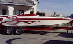2004 25' Eliminator Eagle, Merc/502/Mpi, Mid Cabin, 153hrs, Big Stereo,Custom Cover and Bimini top, Competive Trailer, Custom Grapics. this boat is Unbeliveable