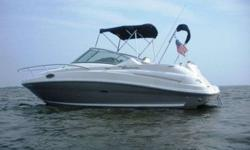 2006 Sea Ray 240 SUNDANCER The 240 Sundancer is a grand step into Sea Rays world-renowned family of raised helm, mid-cabin stateroom designed cruisers. The ingenious cabin layout encompasses plentiful storage, gorgeous wood cabinetry and color-coordinated