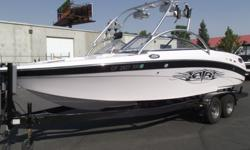 This Air Nautique 226 TE has fun written all over it. It is a great boat for all water sports and big enough to handle the chop. With the PCM ZR6 it gets up and goes in no time flat. Now's your chance to own a Nautique.