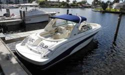 2002 Sea Ray 290 Bow Rider The Sea Ray 280 Bow Rider provides all the quick-to-plane power of twin 5.7 Mercruiser stern drives. Its great tracking ability at high or low speeds makes it a favorite for skiers, kneeboarders, and tubers. With a generous