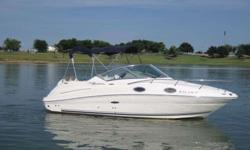 2006 Sea Ray 240 SUNDANCER The 240 Sundancer is a grand first step into Sea Ray's world-renowned family of raised helm, mid-cabin stateroom designed cruisers. The ingenious cabin layout encompasses plentiful storage, gorgeous cherry wood cabinetry and