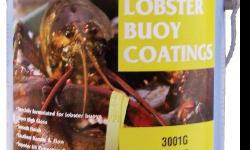 Lobster Buoy EnamelsThis is a solvent based lobster buoy coating designed for use on PVC buoys and floatation material. Lobster Buoy Enamels have excellent adhesion and durability when applied to vinyl surfaces and are available in bright, attractive