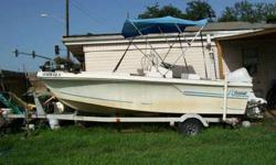 For financial reasons I am selling my 1982 Sportcraft 18' deep V fiberglas boat on an galvanized trailer with a good running 1990 Johnson 115HP outboard motor. The 18 gallon gas tank and a live well are built in the floor giving more floor space. Steering