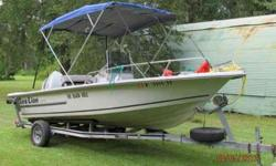 """1987 Traveler """"Sea Lion"""" Bay Boat. 115 HORSEPOWER Suzuki oil injected, GPS/ depth sounder, compass, short wave radio, new cooler seat, and trailer. Garage kept. $ 3000.00. Call or or (click to respond)Listing originally posted at http"""