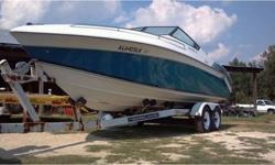 This inboard/outboard runabout has a fiberglass hull, is 22.83 ft long and 96 in wide. She has sufficient power to pull multiple skiers or tubers from the factory mounted tow ring. Over $2,000 in recent repairs, new ladder, stainless steel prop and