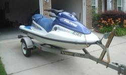 2001 Polaris Virage Personal Watercraft. 3 Seater. Great Condition. Only 66 hours! Ready for the water. Includes Trailer and Cover. Garage kept. Recently tuned up with new fuel lines installed. Includes 4 life vests. Includes all original toolkit, flush