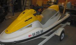 This is a 2003 Polaris Freedom jet ski. We are looking for $3000 and that includes the trailer and ski cover as well. The motor has recently been re-built and it has 25 hours on it. It ran great at the lake this summer. We are just looking to upgrade to a