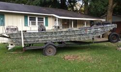 18 foot aluminum boat with a 110hp johnson motor