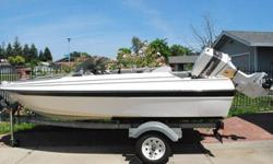 This is 14.5 ft Bayliner Capri. It has an awesome 60 hp Johnson motor that was recently completely rebuilt, it is like new. The trailer has new wiring, new lights, new wheels, and a new crank. Everything is in excellent condition. Cash deals only asking