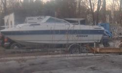 1988 rinker 24ft1988 rinker boat with trailer , 24ft , v6 motor inboard/outboard motor, cuddy cabin , has maybe 20 hours needs some work , call or text , $3,000, OBO. (203) 223-6726 NEW MILFORD, CT