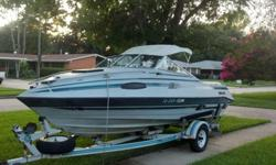 1989 20 foot Baretta Fiberglass Cabin Cruiser. 3000 obo. Vovlo inboard motor. Boat is in great shape. Needs new battery and battery cables and new hoses on the hydralics. Took it out last summer and it ran great, just don't have the time to spend on it