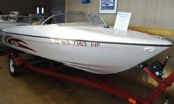 Great boat package, sharp looking & fast, easy to maneuver and trailer. Well maintained, very clean interior & exterior. 1994 Bayliner Jet Model 1401 Regle Reflexx , Red, White & Gold. Fiberglass Boat, 5 Person Capacity. Horn, Lights, Anchor, Bilge Pump.