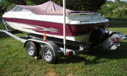Boat is in above average condition.Has power/tilt steering, 310hp 5.7 volvo,cobra outdrive. Power max intake manifold,4 barrel Quadrajet New throttle and steering cables.No soft spots in the floor.No rips or tears in the seats.Trailer is a 2005