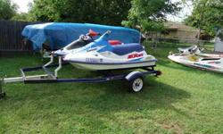 theses are a great pair of running jet ski's on a good double trailer lake ready. 1 is a kawasaki 750 ss in great cond. the other is a polaris 750 sl in great cond. titles in hand call dwaine for more details 682*552-8252 Listing originally posted at http