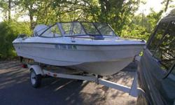 1978 Lund hull equipped with a 1989 Johnson 88 SPL. 1992 Shorelander Trailer This is the perfect boat for summer river fun. The boat 18ft and can seat 6 adults (less for water sports). The 88hp motor can really get up and go, pulling a tuber/skier/wake