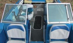 1989 , 17 ft arrow glass boat,, with a Johnson 150 motor.. set up for fishing or sking. almost new seats. foot control trolling motor and fish finder.. can be purchased with a 6 hp kicker motor.