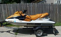 Hello! I look forward to selling my 2000 Bombardier Sea Doo GTX Millennium Edition to you just in time for summer! This a powerful, luxurious, and well equipped machine with a great color scheme. My GTX is a 3 seater, gets up to 55mph on open water, pulls