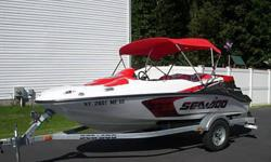 2007 Sea-Doo Speedster 150 in showroom condition. Only 31 hours total operating time. Has only been used in fresh water. Always covered and always maintained by dealer. Deal includes trailer, all Coast Guard required safety equipment, ski vests and tow