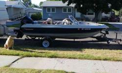 Beautiful family boat, she runs good! We would like to find something bigger!!! 1987 17ft. Galaxy, 85HP Force outboard engine, just replaced plugs last summer, had a compression check and everything looks great!There is 1 flaw, smaller than a dime in 1 of