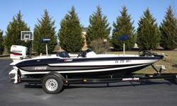 1997 Stratos 282 Bass Boat with a 1997 Johnson 150 hp motor. This boat is in very good condition.... the carpet was replaced 2 years ago, it has a new cranking battery and the trolling motor batteries are a year old, it has 2 new livewell pumps. It has a