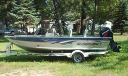 2005 Alumacraft Magnum 175cs. This is a very wide and roomy boat with all the extras. 24volt Minn Kota Maxxum Pro 80lb thrust trolling motor, Lowrance LMC332c GPS with navtronics map card, also a Bottonline locator on the trolling motor. The boat has 4