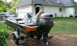 2003 15' Weldbilt Aluminum Boat with 2002 Trailer and 2003 25 HORSEPOWER Nissan 4 Stroke. Has trolling engine, spare, 6-1/2 gallon tank, stainless propeller, and live well. Contact Chuck at 832-934-2142Listing originally posted at http