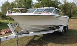 Nice 1977 Mark Twain 18' V hull with V8 inboard motor. The boat has plenty of extras for skiing and having fun on the water! It has always been garaged, good tires & new battery last year, 18 Ft. Long, 12 gallon gas tank. I am interested in selling the