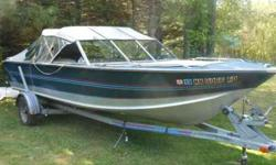 18' 1988 Blue Fin Sportsman Bowrider with OMC Cobra I/O, 128 hp, 4-cylinder. All canvas in good condition. Includes