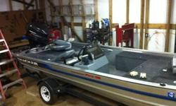 1995 Bass Tracker 18 foot 75 horse Mercury motor 46 # trolling motor.Extra 12/24 volt hand controll trolling motor.One new trailor tire. This ad was posted with the eBay Classifieds mobile app.