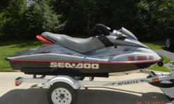 2000 SEA-DOO RX (5513) MILLENNIUM YEAR EDITION with Cover and Spartan Trailer. CASH ONLY $3,500 or best offer EXCELLENT CONDITION! * Original owner * 116.1 Hours * Always stored inside winter/summer and winterized yearly by dealer * Seat-perfect For best
