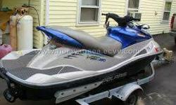 2003 POLARIS MSX 140 (140hp) 3 PERSON , WITH TRAILER, PADDLE,FIRE EQUPITMENT, COVER, MANUALS AND KEYS... BLUE AND SILVER IN COLOR, AND NO LEAKS OR CRACKS........ ONLY 103.3 HOURS... ITS CURRENTLY FOGGED RIGHT NOW AND IS IN GARAGE THER SEAT IS ALITTLE DRY