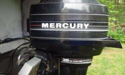 1988 twenty feet pontoon boat w/trailer.35 horse mercury oil injected.This is an old boat but it runs well.1 door has damage where vandals ran boat into top of boat house with lift.Rated for twelve people.Trailer is for a 22-24 ft boat but also works