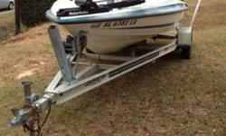 97 16 1/2 ft hydra sport fish and ski with a 115 Johnson outboard new seats new trolling engine new battery's with a minn Kota onboard dual bank charger live well and five compartments with a rod stow away in the bottom of the boat also comes with ski