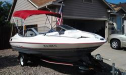 1990 Bayliner with Evinrude Johnson 90 HP outboard good condition for year. comes with everything you need for the lake and is registerd and decon from Chatfield Reservoir. It has all the safety require items including life vests and tubing, ropes, fire
