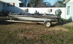 1988 kingfisher bass boat 75hp outboard, some extras