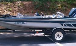 CHARGER BASS BOAT EARLY 90'S WITH 115HP EVINRUDE OUTBOARD RUNS GREAT LOW HOURS POWER TRIM TILT HUMMINBIRD DEPTH FINDER LAKE READY NO PROJECT BOAT GREAT FUN IN THE SUN IS REALLY FAST NICE TRAILER ALL LIGHTING WORKS DECENT TIRES BOARDS COULD USE COVERING