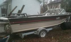 1987 Sylvan 21 foot fishing boat w/1987 shore lander trailer 90 hp oil injected Johnson w/powertrim new floorboards lighted compass fish finder extra prop big John down rigger board nice fishing boat lots of room asking $3,500 contact or (click to