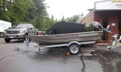 2008 Tracker 12' Aluminum Boat with a 2007 Mercury 9.9 Four Stroke motor with a 2007 Yacht Club Trailer. All three items are freshwater pre-owned and in attractive condition. Will Come with paperwork on all 3 items. This holds three people. May sell