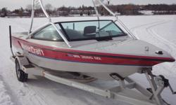 Pro Ski boat for the first 100 hours professionally maintained by the sponsoring dealership. Purchased by the current owner in 1995. The boat has been on the same boat lift and lake since 1995 with very little trailer use so there is no fiberglass rock