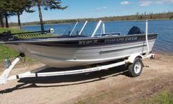 1988 Sylvan 17' Super Sportster (Fish & Ski) Dual Console with 1989 90 hp Evinrude with power tilt & trim. Large front casting platform. Have cover for open bow. Three seats. One travel cover and one mooring cover. 55 lb Minn Kota autopilot trolling