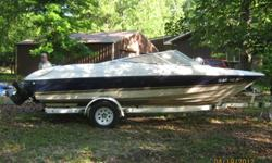 20ft, 235hp Mercury, 5.7 Chevy V8 inboard/outboard motor. includes trailer, and some life jackets.