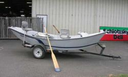 Great Hyde 16' Drift Boat for sale, if you know about drift boats you know this 1 is quality!If you don't visit Hyde's web siteto learn more.Boat comes with everything in photos, Boat has been stored inside all except last year, but well tarped all