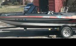 1988 6 PERSON STRATOS 16.6 FOOT BASS BOAT WITH TRAILER. NEEDS A LITTLE INSIDE WORK AS FAR AS THE SEATS GO. THIS IS A GREAT BOAT FOR GOING FISHING WITH YOUR BUDDIES! IT HAS A JOHNSON 115 MOTOR VERY POWERFUL.THERE IS NO TROLLING MOTOR OR FISH FINDER.THE